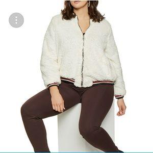 27a5b668f32 Jackets   Blazers - Plus size sherpa jacket